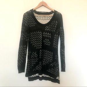 Belldini Black Sweater Knit Dress Tunic Medium